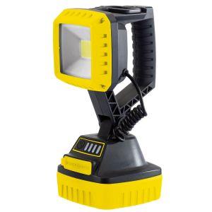 Draper - 10W COB LED Rechargeable Work Light - 1,000 Lumens (Yellow, 4x 2.2 Ah Li-ion Batteries Supplied)