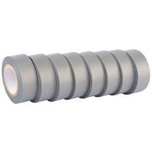 Draper - 10M x 19mm Grey Insulation Tape to BSEN60454/Type2 (Pack of 8)