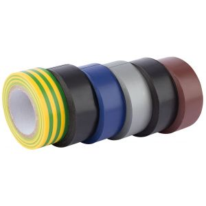 Draper - 6 x 10M x 19mm Mixed Colours Insulation Tape to BSEN60454/Type2