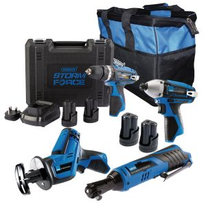 Draper - Draper Storm Force ® 10.8V DRILL 4 Pack + 4 Batt.