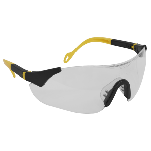Sealey Sports Style Clear Safety Glasses with Adjustable Arms