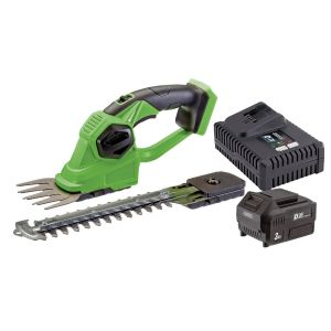 Draper - D20 20V 2-in-1 Grass and Hedge Trimmer with Battery and Fast Charger