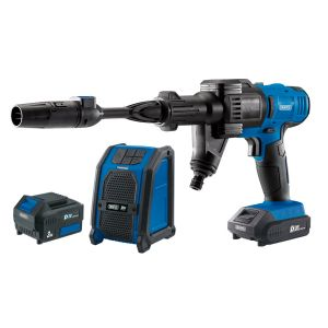 Draper - D20 20V Pressure Washer, D20 20V Wireless Speaker with 1x 2Ah and 1x 3Ah
