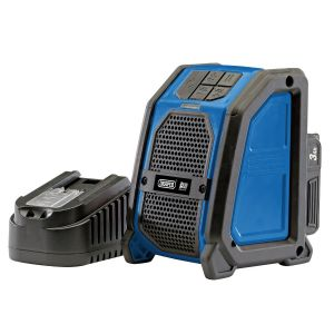 Draper - D20 20V Wireless Speaker with 1x 3Ah Battery and Charger