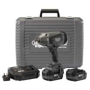 """Draper - XP20 20V Brushless 1/2"""" Impact Wrench (1000Nm) with 2x 4.0Ah Batteries and Fast Charger"""