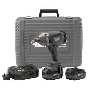 """Draper - XP20 20V Brushless 3/4"""" Impact Wrench (1060Nm) with 2x 4Ah Batteries and Fast Charger"""