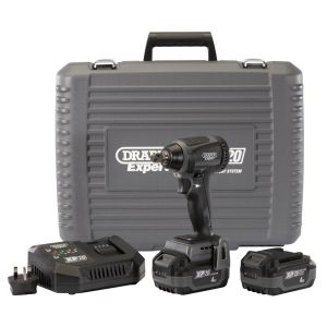 """Draper - XP20 20V Brushless 1/2"""" Impact Wrench (300Nm) with 2x 4Ah Batteries and Fast Charger"""