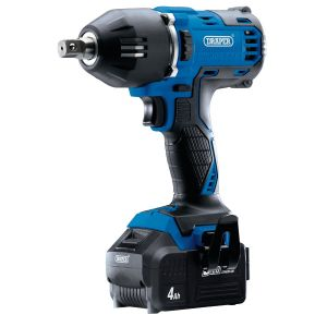 """Draper - D20 20V Brushless 1/2"""" Mid-Torque Impact Wrench (400Nm) with 2x 4Ah Batteries and Fast Charger"""