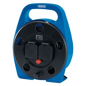 Draper - 2-way 10m Cable Reel with LED Worklight