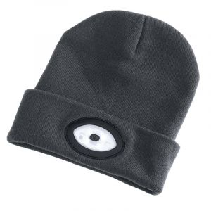 Draper - Beanie Hat with 1W Rechargeable Torch - 100 Lumens (Grey, One Size)