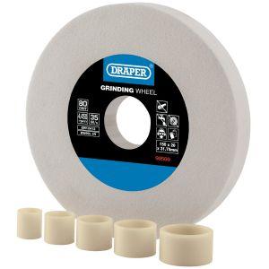 Draper - White Aluminium Oxide Bench Grinding Wheel 80G (150mm x 20mm)