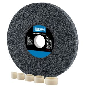Draper - Aluminium Oxide Bench Grinding Wheel 60G (200mm x 25mm)