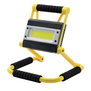 Draper - 20W COB LED Rechargeable Folding Work Light and Power Bank - 750 to 1,500 Lumens