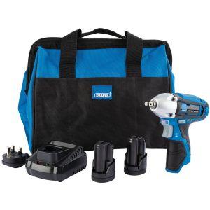 Draper - Draper Storm Force® 10.8V Power Interchange Impact Wrench Kit (+2x 1.5Ah Batteries, Charger and Bag)