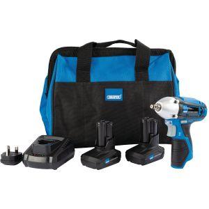 Draper - Draper Storm Force® 10.8V Power Interchange Impact Wrench Kit (+2x 4Ah Batteries, Charger and Bag)