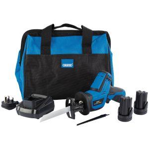 Draper - Draper Storm Force® 10.8V Power Interchange Reciprocating Saw Kit (+2x 1.5Ah Batteries, Charger and Bag)