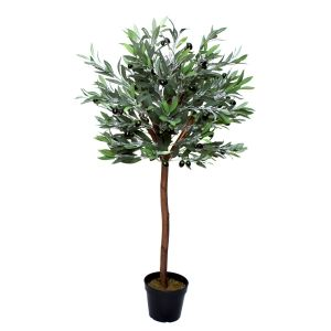 4ft Premium Quality Artificial Olive Standard Tree with Olives