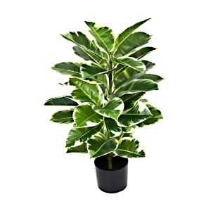 Artificial 98cm Real Touch Rubber Plant in Pot