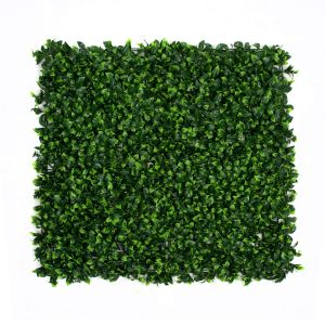 Artificial Green Wall Hedge with Light/Dark Green Leaf Foliage (Pack of 4)