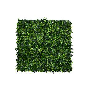 Artificial Green Wall Hedge with Mixed Leaf & Ivy Type Foliage (Pack of 4)