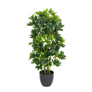 Artificial 95cm Schefflera Umbrella Plant in Black Pot