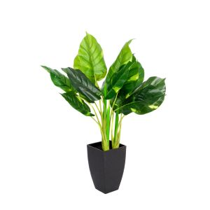 Artificial 75cm Real Touch Pothos Plant in Black Pot