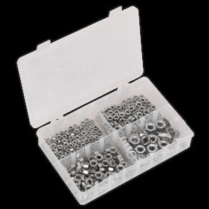 Sealey Steel Nut Assortment 370pc M5-M10 DIN 934 Metric