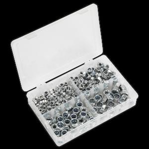 Sealey Nylon Lock Nut Assortment 300pc M6-M12 DIN 982 Metric