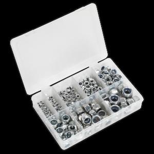 Sealey Nylon Lock Nut Assortment 255pc M4-M16 DIN 985