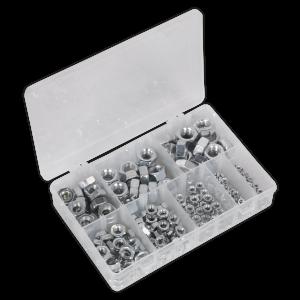 Sealey Steel Nut Assortment 255pc M4-M16 DIN 934 Metric
