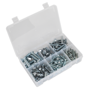 Sealey Setscrew Assortment 150pc Metric M5-M10 High Tensile DIN 933