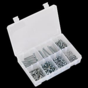 Sealey Setscrew, Nut & Washer Assortment 444pc High Tensile M5 Metr