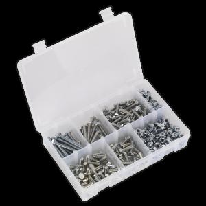 Sealey Setscrew, Nut & Washer Assortment 408pc High Tensile M6 Metr