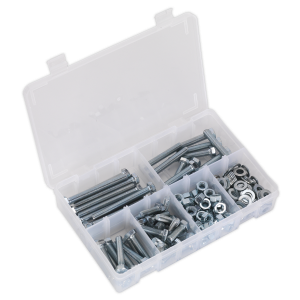 Sealey Setscrew, Nut & Washer Assortment 220pc High Tensile M8 Metr