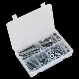 Sealey Setscrew, Nut & Washer Assortment 150pc High Tensile M10 Met