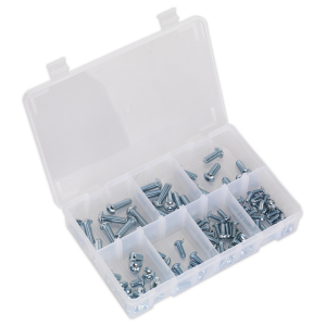 Sealey Socket Screw Assortment 108pc M5-M10 Button Head High Tensil