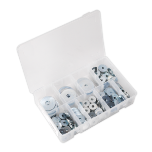 Sealey Repair Washer Assortment 240pc M5-M10 Metric Zinc Plated