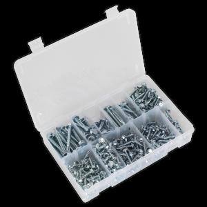 Sealey Self Drilling Screw Assortment 410pc Hex Head Zinc DIN 7504K