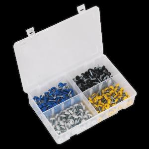 Sealey Numberplate Screw Assortment 200pc 4.8mm x 18mm Plastic Encl