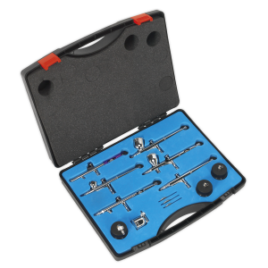 Sealey Air Brush Kit 10pc Gravity/Suction Feed