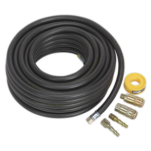 Sealey Air Hose Kit 15m x Ø8mm with Connectors