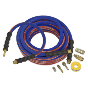 Sealey Air Hose Kit Heavy-Duty 15m x Ø10mm with Connectors