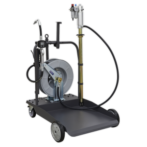 Sealey Oil Dispensing System Air Operated with 10m Retractable Hose