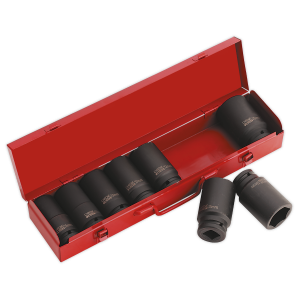 "Sealey Impact Socket Set 8pc 3/4""Sq Drive Deep Metric"