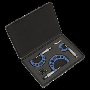 Sealey Micrometer Set 3pc Metric