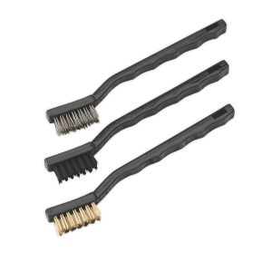 Sealey Miniature Brush Set 3pc