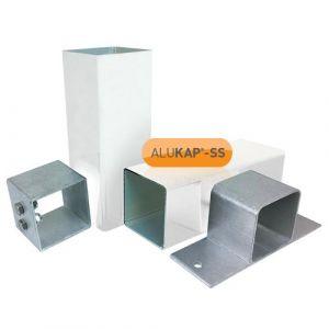 Alukap-SS Complete post & bracket kit 3000mm White