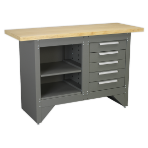 Sealey Workbench with 5 Drawers Ball Bearing Slides Heavy-Duty