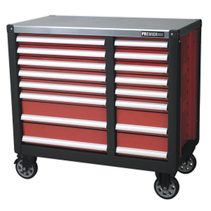 Sealey Mobile Workstation 16 Drawer with Ball Bearing Slides