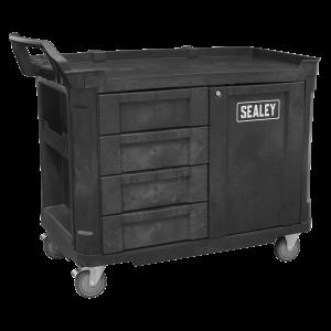 Sealey Mobile Workstation 4 Drawer & Cupboard 1210mm